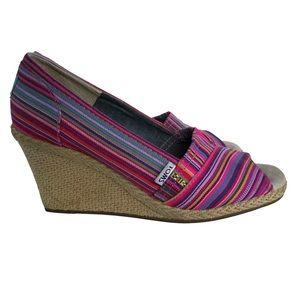 TOMS Calypso Espadrille Wedge Heels, Size 8.5
